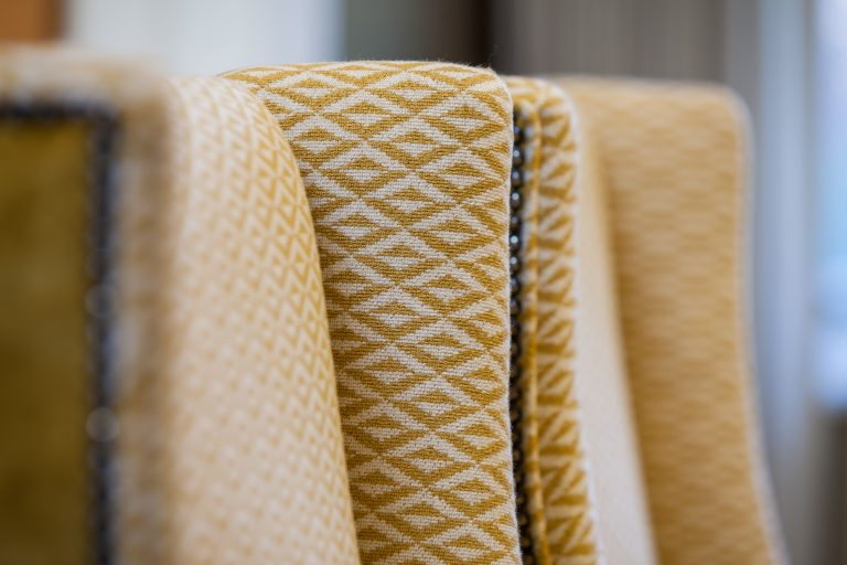 Close up image of dining chairs